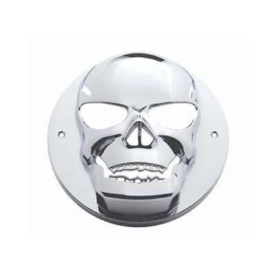 "Round Chrome Skull Bezel / Covers 2.5"" LED Side Marker Clearance Light"
