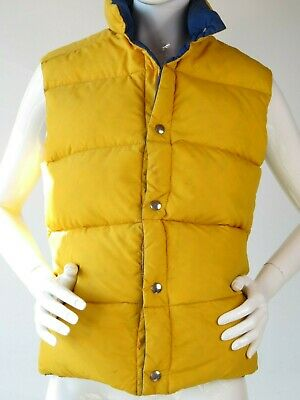 Vintage EMS Eastern Mountain Sports Reversible Down Vest Made in USA  q