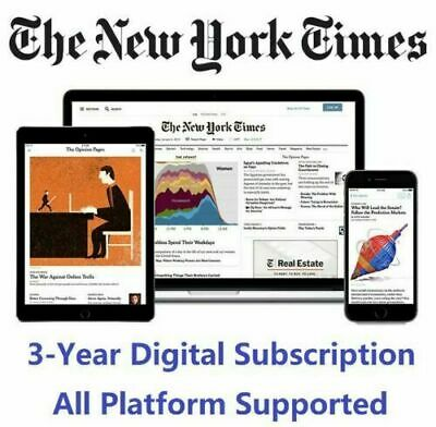 The New York Times 3 Year Premium Digital Subscription All Platforms
