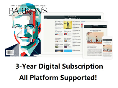 Barron's 3-Year Digital Subscription All Platforms Fast Delivery Region Free