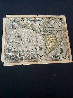 Antique genuine reproduction Map By Mercator/ Amsterdam Septentrio America