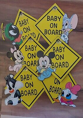 BABY ON BOARD SIGN Baby Cartoon Characters