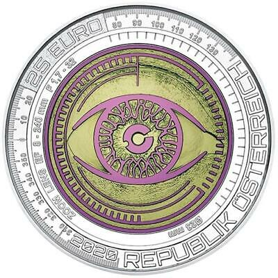2020 Austria € 25 Euro Silver & Niobium BU Coin Big Data