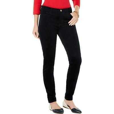 Tommy Hilfiger Womens Pants Black Size 14 Skinny Corduroys Stretch $59 373