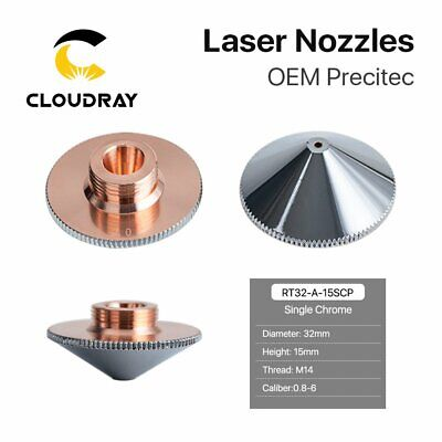 Laser Nozzle Single Layer Chrome-plating Dia.32mm H.15mm for Raytools Laser Head