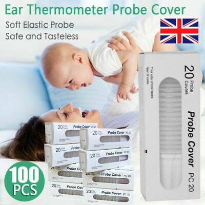 100x Braun Probe Covers Thermoscan Replacement Lens Ear Thermometer Filter Cap~