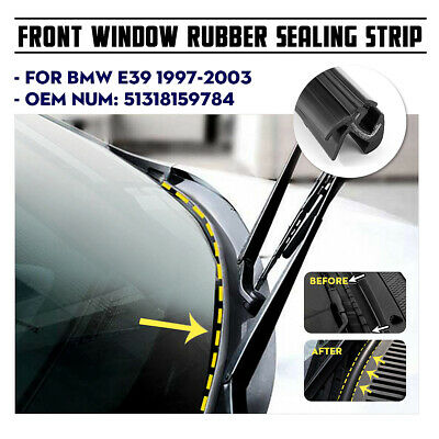 Front Windshield Moulding Trim Seal Weatherstrip For BMW 5 Series E39
