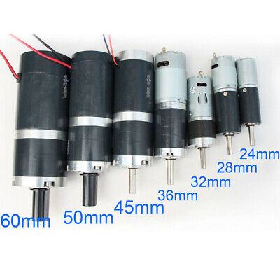 DC 12V 24V Planetary Gear Motor 5.2-1000RPM High Torque Low Speed Tubular Motor