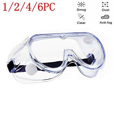 Protective Safety Glasses Lab Work Anti-fog Seal Eye Protection Goggles 1-6 PC