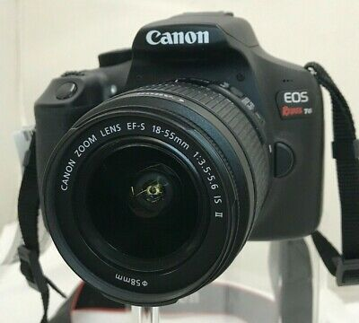Canon EOS Rebel T6 DSLR Camera with a Canon EF-S 18-55mm 1:3.5-5.6 IS II Lens