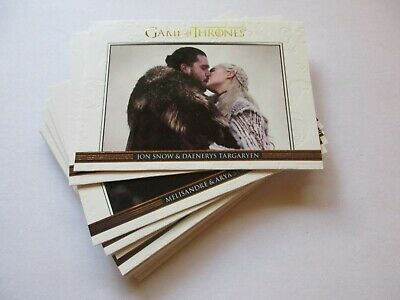 2020 Game of Thrones Season 8 Complete GOLD Parallel Relationships Set - Eight
