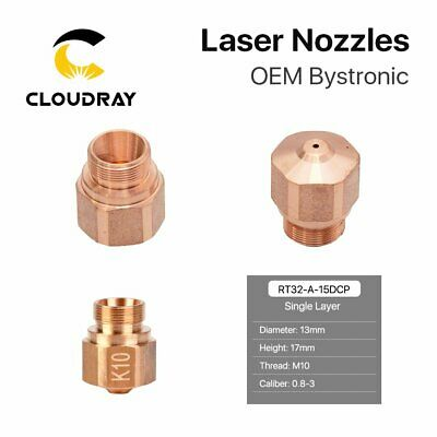 Laser Bystronic Nozzle Layer Caliber for Fiber Laser Cutting Head Pack of 10 pcs