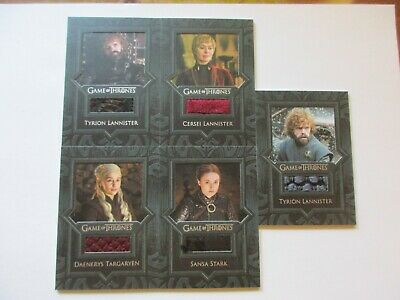 2020 Game of Thrones Season 8 Complete Relic Costume Set VR13-VR17 - Eight