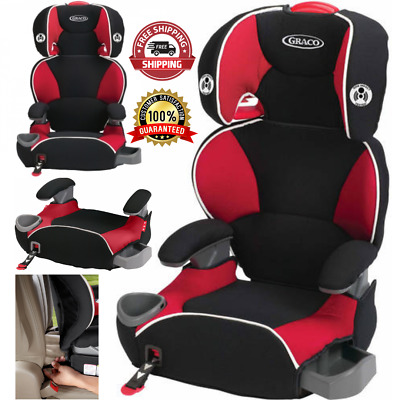 Toddler Adjustable Safety Car Seat Affix Highback Booster With Latch System Red