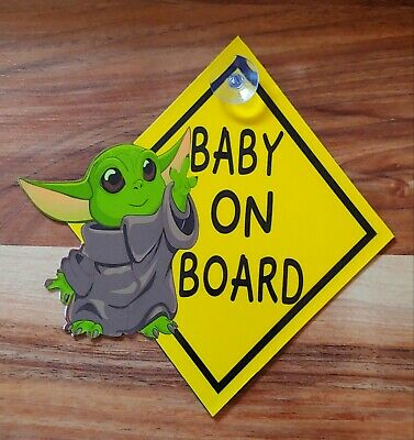 Baby Yoda Baby on Board Sign or Magnet