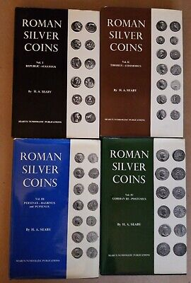 Roman Silver Coins Hardcover Books 4 Volume Set Seaby's Numismatic Publications