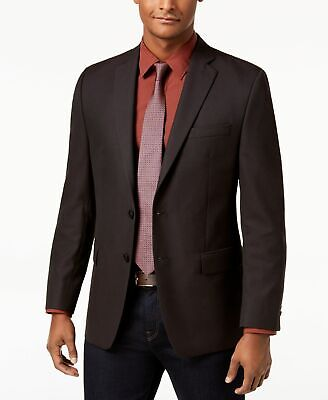 Michael Kors Men Suit Separates Red Black Size 40 Two Button Sport Coat $295 024