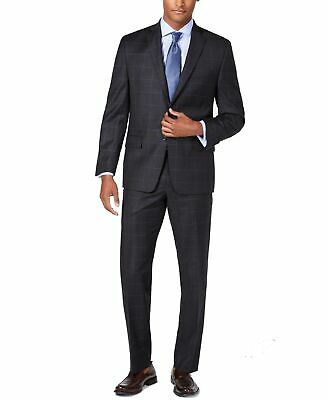 Michael Kors Mens Suits Black Size 38R Windowpane Two Button Wool $600 167