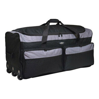 """Travelers Club Unisex  36"""" Collapsible Multi-Pocket Duffel Gray Size OSFA"""