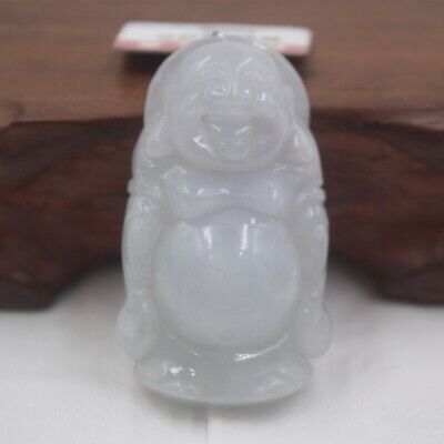 Real 100% Natural Grade A Jade /Jadeite Best Big Belly Buddha Pendant
