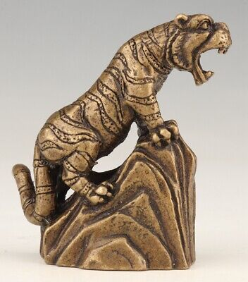 China Bronze Statue Figurine Tiger Mascot Decoration Gift Collection