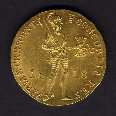 Netherlands - Utrecht. 1818 Gold - Trade Ducat.. UNC