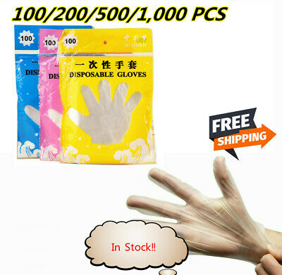 100PCS/Bag Vinyl Disposable Gloves Powder free No Latex Clear Cleaning Food CA