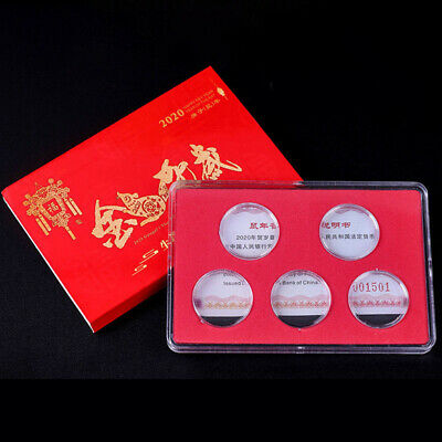 5 X Coin Collection Storage Case Display Box Holder Protector For Dia 27mm Set