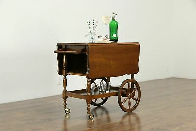 Bar Cart, Mahogany Vintage Dessert or Beverage Trolley #33219