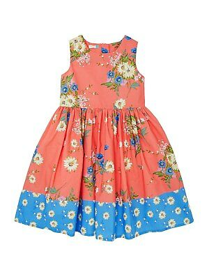 John Lewis Girls' Double Floral Print Prom Dress / Red Age 11 Years New With Tag