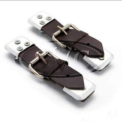 Leather Straps, Dark Brown (Pair) For Classic Car Bonnet / Boot