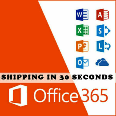Microsoft Office 365 Pro Plus 2016/2019 Lifetime Multilanguage 32/64 Bits 5 User