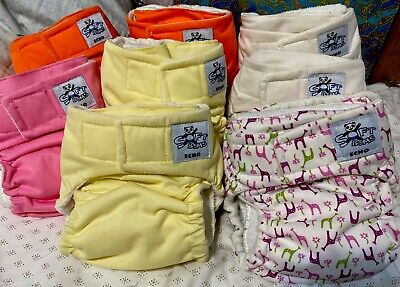 Softbums Echo Cloth Diapers (lot of 8) W/ Super Dry Touch Pod