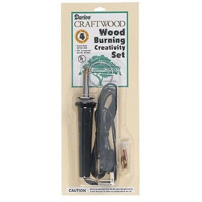 Wood Burning Tool With Accessory Tips 4 Pieces New