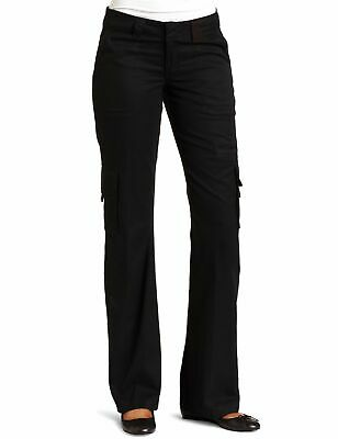 Dickies Womens Cargo Pants Black Size 12 Relaxed Fit Straight Leg $40 012