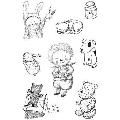 Ultimate Crafts Best Friends Stamps - Angels, Cat, Dog, Bunny Rabbit, Teddy