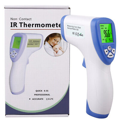 Digital No Touch Forehead Thermometer Adult Baby Infrared Temperature Test Meter