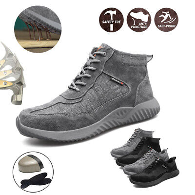 Safety Shoes Work Shoes for Men Women Cap Steel Toe Trainers Lightweight Sports