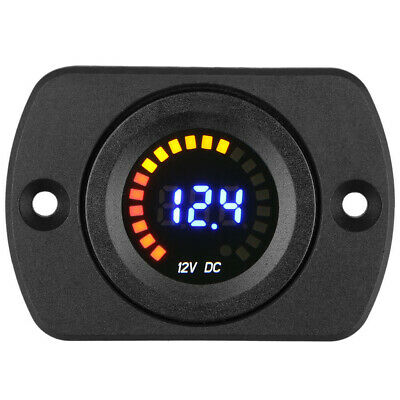 Car Motorcycle LED Digital Display Voltmeter Volt Gauge Panel Voltage Meter 12V