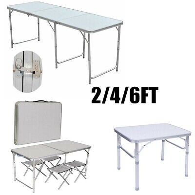 2-6Ft Catering Camping Heavy Duty Folding Table Trestle Picnic Party Bbq Garden