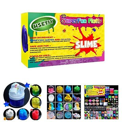 A Big Slime Making Kit Mega DIY Gooey Fluffy Safe Gift Set for Girls Boys Kids