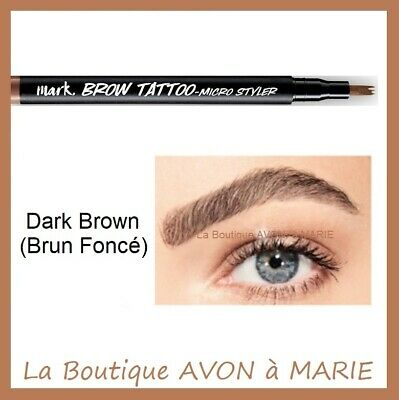 DARK BROWN BROW TATTOO Stylo Tatouage Sourcils AVON : SEMI PERMANENT