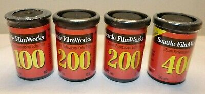 Lot of 4 Seattle FilmWorks 35mm Professional Color Film 100-400 -New Sealed -EXP