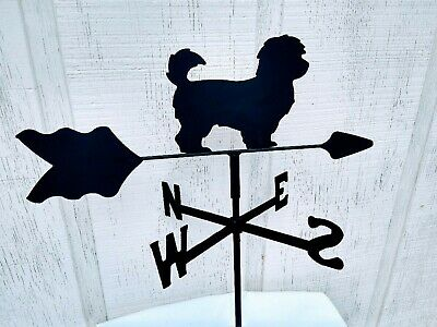 havanese roof mount weathervane black wrought iron look made in usa