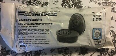 Pair MSA Advantage GME  Multi-Gas /CHEMICAL Combination Filter Cartridge #815359