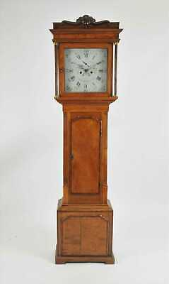 19th Century Inlaid Fruitwood Long Case Grandfather Clock T Richardson Weaverham