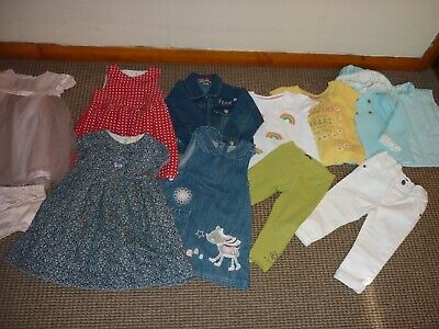 Large Bundle Baby GIRL Clothes age 12-18mnths Dresses Tops Jacket Next Catimini