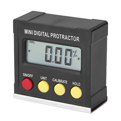 LCD Display Digital Protractor Angle Finder Bevel Box Inclinometer Magnetic Base