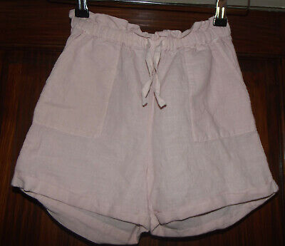 Girls Pale Pink M&S Shorts Age 8 - 9 Years