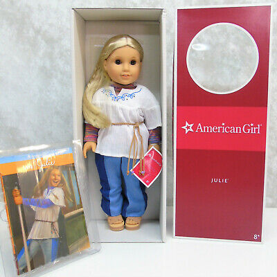 """NEW 1st Edition American Girl 18"""" JULIE DOLL In Original MEET OUTFIT Book AG BOX"""